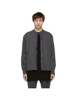 Grey Denim Seamed Jacket by Julius