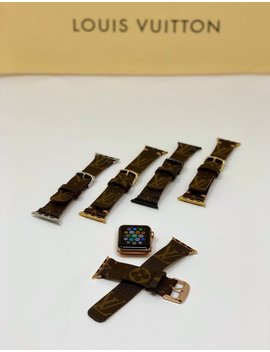Lv Upcycled Watchband, Authentic Louis Vuitton Apple Watch Band, 38mm, 40mm, 42mm,44mm Rose Gold, Gold, Silver, Black, Apple Watch Series 4 by Etsy