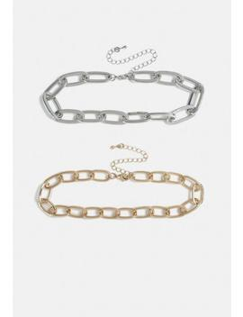 Multi 2 Pack Metal Chain Necklace by Missguided