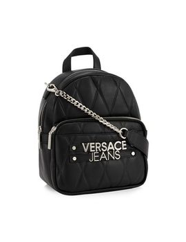 Versace Jeans   Black Quilted Backpack by Versace Jeans