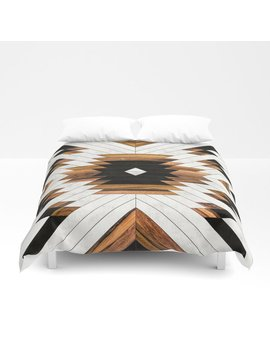 Urban Tribal Pattern 5   Aztec   Concrete And Wood Duvet Cover by