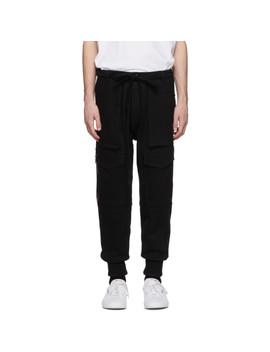 Black Denim Cargo Pants by Nahmias
