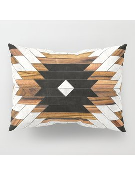 Urban Tribal Pattern 5   Aztec   Concrete And Wood Pillow Sham by