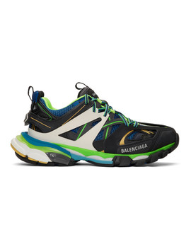 Baskets Noires Et Bleues Track Runners by Balenciaga