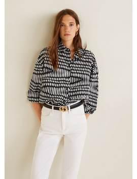 Košile S&Nbsp;Geometrickým Potiskem by Mango