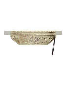 Gold Metallic Money Belt Pouch by Rick Owens
