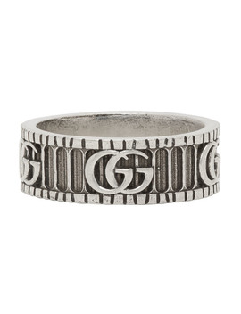 Bague En Argent Double G by Gucci