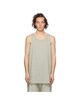 Grey Loose Tank Top by Rick Owens