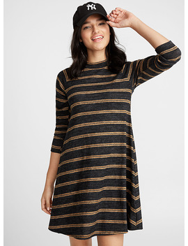 High Neck Soft Jersey Dress by Twik