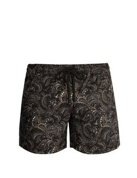 Paisley Print Swim Shorts by Commas