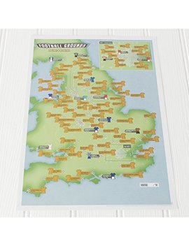 Football Grounds Collect And Scratch Off Travel Map   Maps International –– 29 X 42cm by Maps International