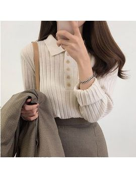moon-city---collared-knit-top by moon-city