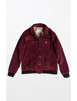 Roxy Sherpa Lined Corduroy Jacket by Pacsun
