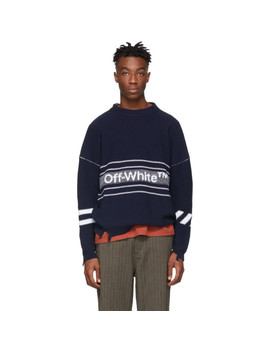 Pull à Logo Bleu Marine by Off White