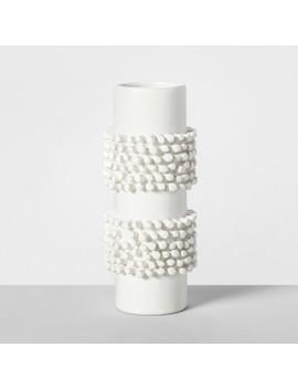"7.7"" X 3.2"" Porcelain Tufted Vase White   Opalhouse™ by Opalhouse"