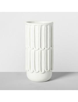 "9.5"" X 4.6"" Decorative Porcelain Vase White   Opalhouse™ by Opalhouse"