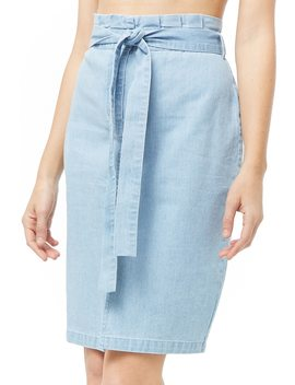Denim Paperbag Skirt by Forever 21