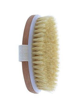 Dry Skin Body Brush, Natural Bristle, Remove Dead Skin And Toxins, Improves Skin's Health And Beauty by Bonure