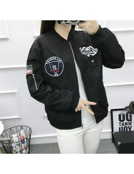 Puntino   Applique Bomber Jacket by Puntino