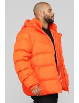 Classic Puffer Jacket   Orange by Fashion Nova