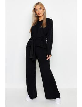 Plus Loopback Wide Leg Jogger by Boohoo