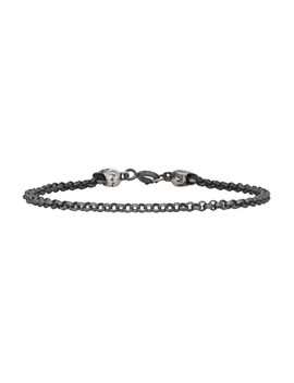 Silver Tiny Jail & Skulls Bracelet by Ugo Cacciatori