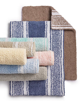 Last Act! Cotton Reversible Bath Rug Collection, Created For Macy's by Martha Stewart Collection