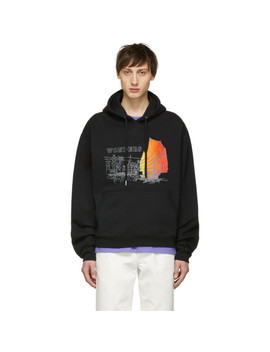 Ssense Exclusive Black China Hoodie by Wonders