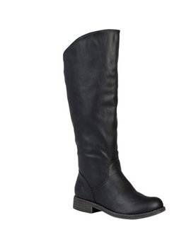 Brinley Co. Women's Wide Calf Slouchy Round Toe Boots by Brinley Co.