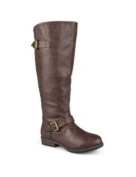 Women's Extra Wide Calf Knee High Studded Riding Boots by Brinley Co.