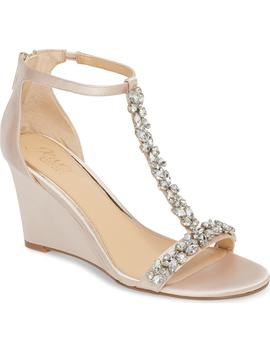 Meryl Wedge Sandal by Jewel Badgley Mischka