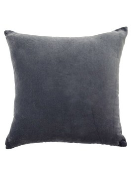 Normandy Faux Velvet Throw Pillow Gray   Beautyrest by Shop This Collection