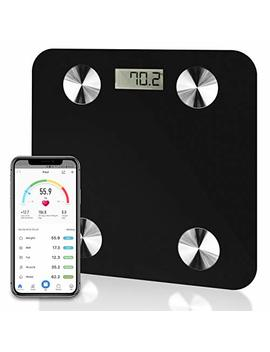 Futura Black Smart Precision Bluetooth Bathroom Scales I Os & Android, Weighing Scales, Body Fat Digital Scales, 28st/180kg/400lb Backlight Display, Slim Design, Elegant Black Measuring Tape Included by Futura