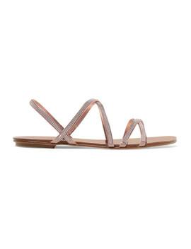Sarabel Swarovski Crystal Embellished Satin Sandals by Pedro Garcia