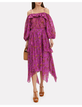 Torri Magenta Midi Skirt by Ulla Johnson