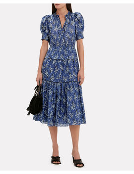 Corrine Cornflower Dress by Ulla Johnson