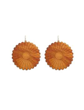 Floral Wood Drop Earrings by Forever 21