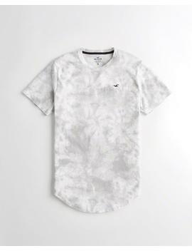 Tie Dye Curved Hem T Shirt by Hollister