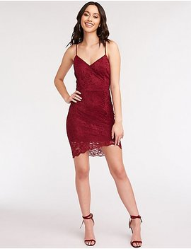 Lace Mini Bodycon Dress by Charlotte Russe