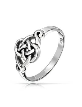 Irish Cut Out Celtic Love Knot Sterling Silver Ring by Bling Jewelry