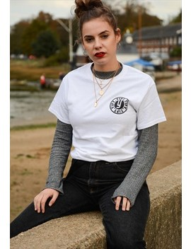 Stamp Logo T Shirt In White by Yify