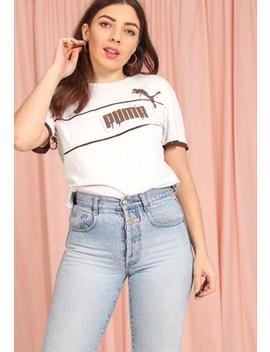 Vintage 90s Puma T Shirt In Cream by Puma
