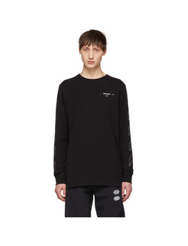 Black Diag 3 D Line Long Sleeve T Shirt by Off White