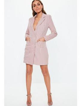 Robe Blazer Rose à Rayures by Missguided