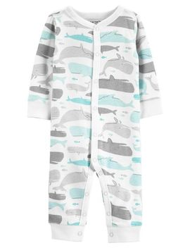 Whale Snap Up Cotton Footless Sleep & Play by Carter's