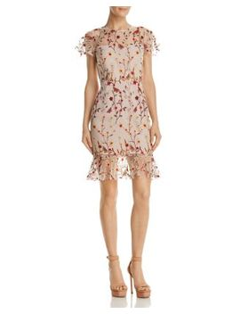 Butterfly Floral Embroidered Dress   100 Percents Exclusive by Aqua