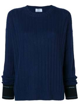 Ribbed Sweater by Prada