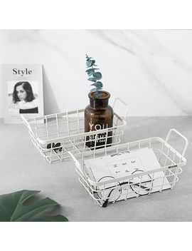 Mimike   Metal Basket Mini Desk Organizer by Mimike