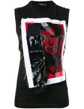 Punk Appliqué Vest by Dsquared2