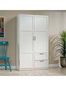 Pemberly Row Wardrobe Armoire In White by Pemberly Row